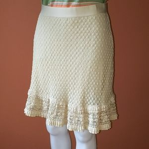 Ruffle cream skirt